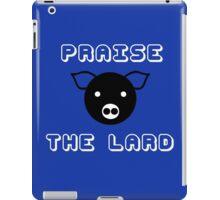 Funny pork bacon praise the lard pig funny nerd iPad Case/Skin