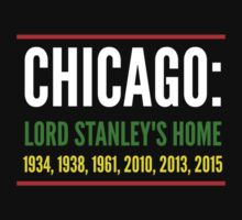 Chicago: Lord Stanley's Home (Striped) One Piece - Short Sleeve
