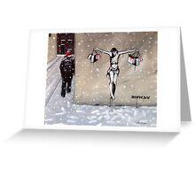 Happy Christmas from Banksy Greeting Card