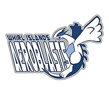 Whirl Islands Aeroblasts: Lugia Sport Logo Photographic Print