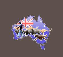 Briard herding Australian-style ! Long Sleeve T-Shirt