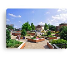 Corporation Street Garden, Derby Canvas Print