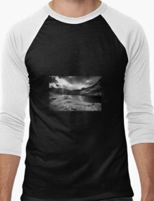 Mt. Snowdon in the Distance, Snowdonia Men's Baseball ¾ T-Shirt