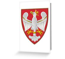 Coat of Arms of the Kingdom of Poland Greeting Card