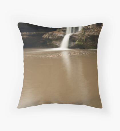 Upper Falls and Branch - Hocking Hills Throw Pillow