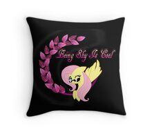 Cool Shy Fluttershy Throw Pillow