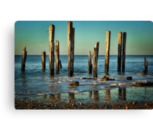 The Jetty Ruins at Port Willunga Canvas Print