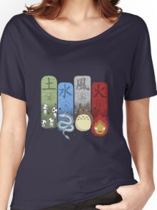 Ghibli Elemental Charms Women's Relaxed Fit T-Shirt