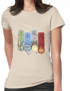 Ghibli Elemental Charms Womens Fitted T-Shirt
