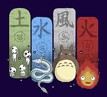 Ghibli Elemental Charms by IdeasConPatatas