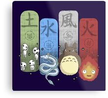 Ghibli Elemental Charms Metal Print