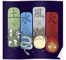 Ghibli Elemental Charms Poster