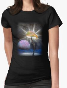 The Power of the Fungal Planet Womens Fitted T-Shirt