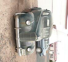 A Dark Blue Packard at Wigwam Motel, Holbrook, AZ. by Mywildscapepics