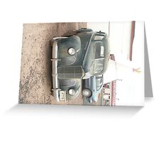 A Dark Blue Packard at Wigwam Motel, Holbrook, AZ. Greeting Card