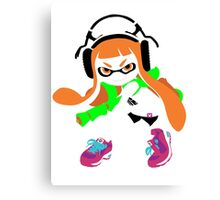 Splatoon Inkling Color Art Canvas Print