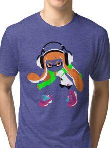 Splatoon Inkling Color Art Tri-blend T-Shirt