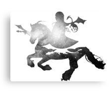 Khaleesi riding Silver Canvas Print
