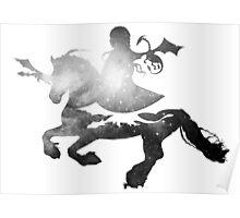 Khaleesi riding Silver Poster