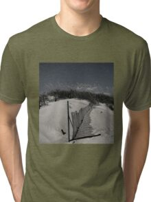 sand dune in black & white Tri-blend T-Shirt