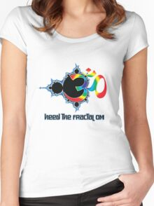 Heed The Fractal Om Women's Fitted Scoop T-Shirt