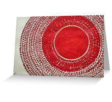 Red Kachina original painting Greeting Card