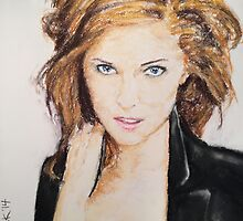 Anna Kendrick, Pastels Portrait, by James Patrick by James Patrick