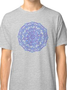 Lilac Spring Doodle Flower Classic T-Shirt