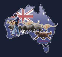 Briard herding sheep Aussie style by BriardRescue
