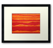 Stacked Landscapes original painting Framed Print