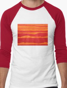 Stacked Landscapes original painting Men's Baseball ¾ T-Shirt