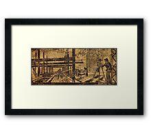 art deco frieze Framed Print
