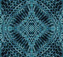 Teal Mind Warp Diffraction Pattern by KirstenStar