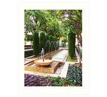 Leaping Fountain - Palma de Mallorca Art Print