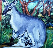 Spirit Animal - Toolache Wallaby by Brita Lee