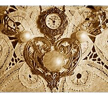 """Old World Look At A Vintage Timepiece"" Photographic Print"