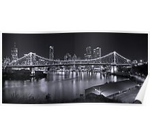 Story Bridge B&W- Brisbane Poster