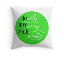 Do Justly | Micah 6:8 | Lime Green Throw Pillow