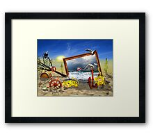 ... and now? Framed Print