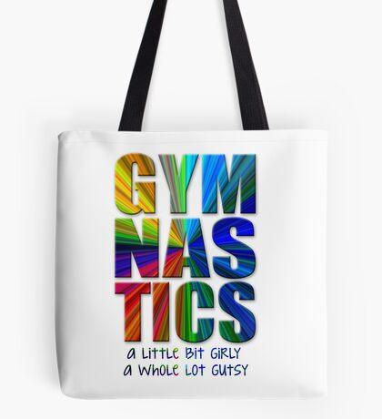 Gymnastics: a little bit girly / a whole lot gutsy Tote Bag