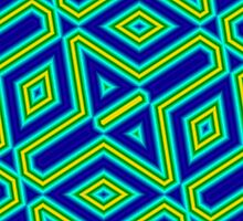 Abstract colorful line pattern by ZierNor
