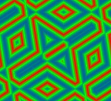 Green abstract pattern by ZierNor