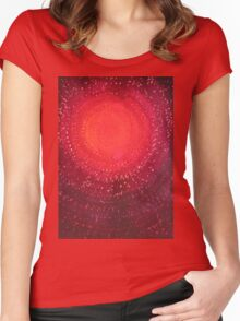Native Sun original painting Women's Fitted Scoop T-Shirt