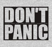 Don't Panic...Isaiah 41:10 (Black) by Jeri Stunkard