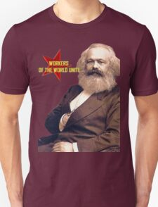 Karl Marx Workers Unite- Shirt, notebook, bags, cases, & more Unisex T-Shirt