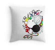 music moves me Throw Pillow