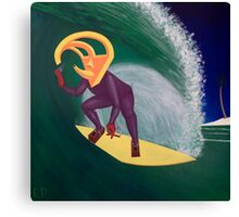 Ancient Relic Surfing Canvas Print