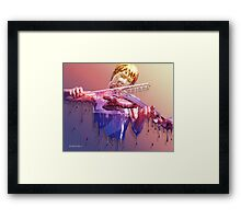 Weeping Violin Framed Print