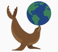 Earth Day Sea Lion Baby Tee