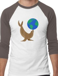 Earth Day Sea Lion Men's Baseball ¾ T-Shirt